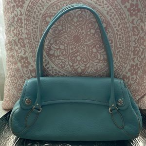Cole Haan blue leather purse